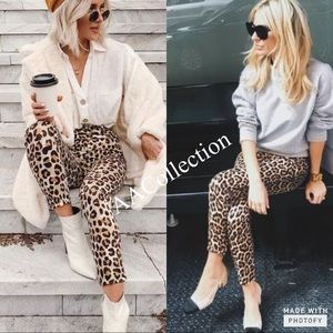 Leopard or Camo Print High Waist Waisted Leggings